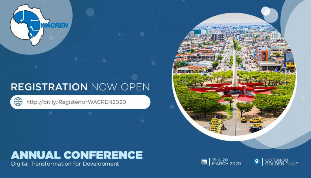 Register for WACREN 2020. Come and join us in the lively Cotonou!