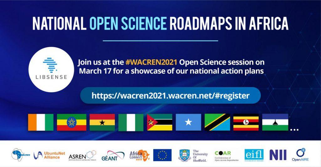 LIBSENSE National Open Science Roadmaps debuts at WACREN 2021