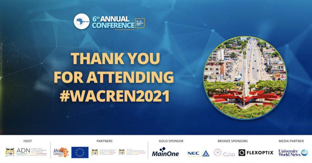 Merci pour votre participation a WACREN 2021