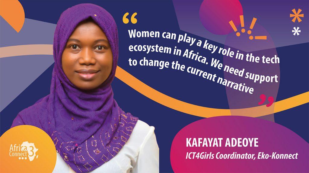Kafayat Adeoye presents ICT4Girls Programme