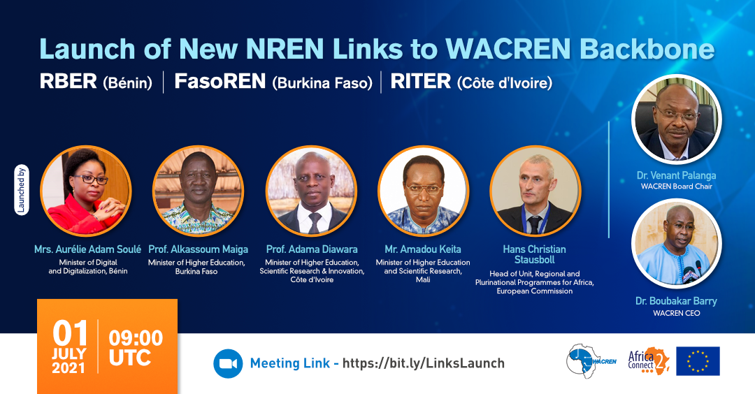 Hat-trick: Three NRENs connect to the WACREN backbone - for unlimited possibilities